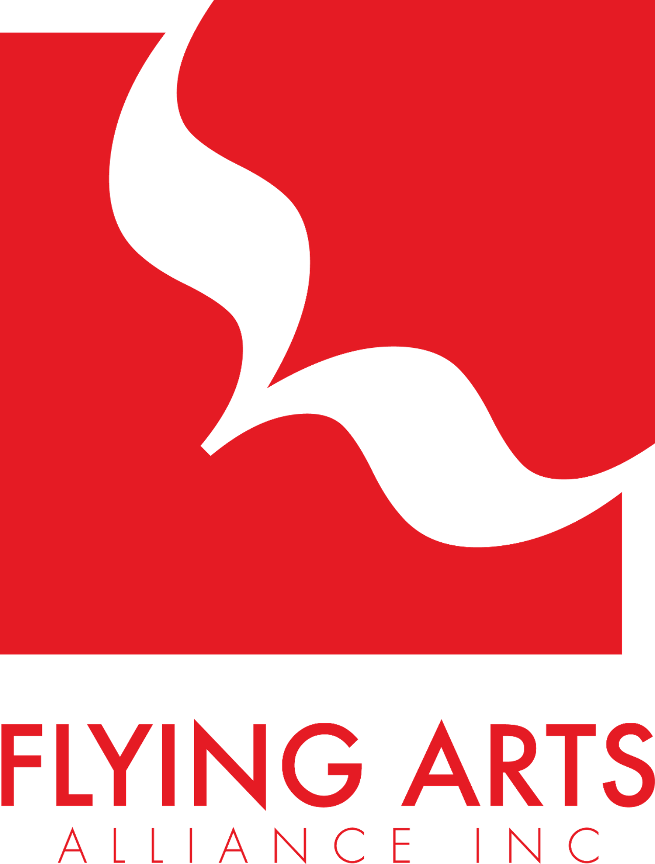 Flying Arts Stacked Logo - transparent