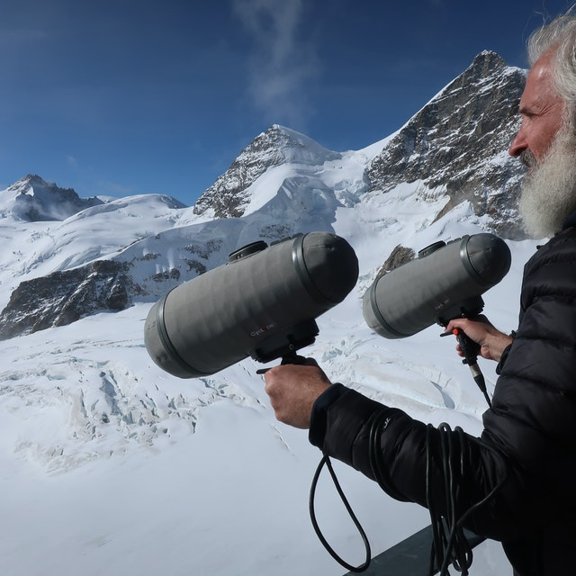 Recording the Bise Wind at Jungfraujoch Switzerland